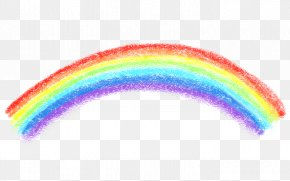 Retro Banner - Rainbow Bridge Crayon PNG