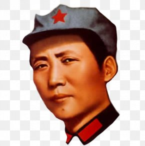 Young Mao Zedong Statue Cultural Revolution Selected Works Of Mao Tse-Tung Chinese Communist Revolution PNG