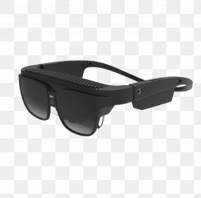 Tech Black Glasses - Oculus Rift Google Glass Virtual Reality Augmented Reality High Tech PNG