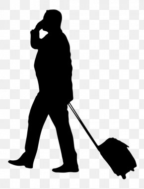 Man Pulling Suitcase - Business Travel Business Travel Baggage Business Tourism PNG