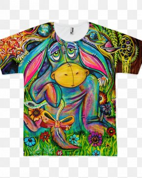 Mockupmandala - T-shirt Eeyore All Over Print Visual Arts Canvas Print PNG