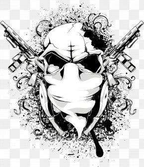 Vector Skull - T-shirt Graphic Design PNG