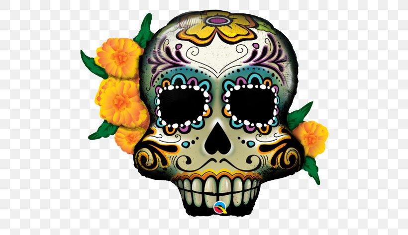 Calavera Day Of The Dead Balloon Skull Halloween, PNG, 550x473px, Calavera, Art, Balloon, Birthday, Bone Download Free