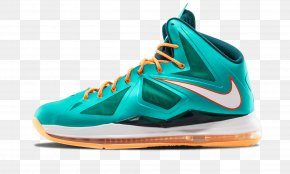 Lebron James - Shoe Sneakers Teal Blue Footwear PNG