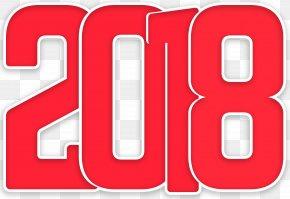 2018 Red Transparent Clip Art Image - Clip Art PNG