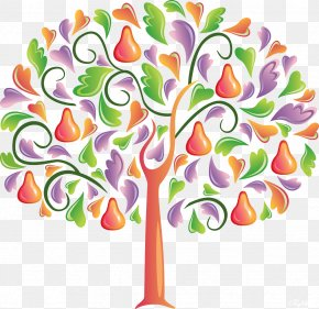 Trees - Pear Tree Clip Art PNG