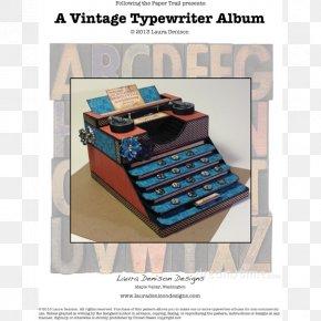 Typewriter - Paper Model Typewriter Office Supplies PNG