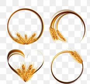 Golden Wheat Ring Vector Material Pictures - Wheat Ear Cereal Clip Art PNG