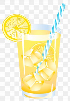 Lemon Summer Drink Vector Clipart PNG