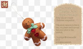 Gingerbread Man - Christmas Ornament Stuffed Animals & Cuddly Toys PNG
