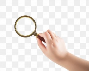 Holding The Magnifying Glass Hand - Magnifying Glass Hand PNG