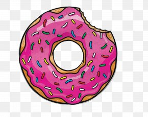 Wheel Baked Goods - Doughnut Pink Pastry Magenta Automotive Wheel System PNG