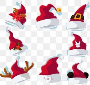 Christmas Red Headdress - Reindeer Antler Hat Christmas PNG