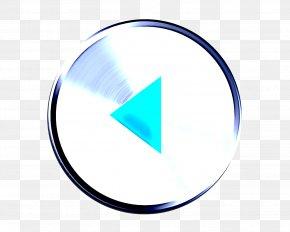 Symbol Electric Blue - Aqua Turquoise Circle Line Logo PNG