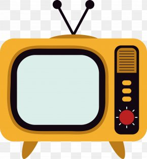 TV Vector Yellow - Television Set Television Channel PNG
