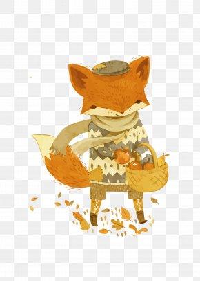 Vector Cartoon Fox - Fox Art Book Illustration Illustration PNG