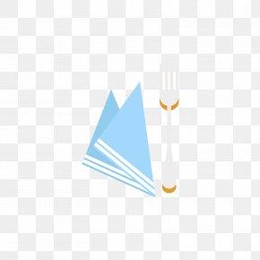 Grey Forks And Blue Paper - Paper Napkin Grey Fork PNG