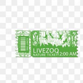 Green Monkey Park Zoo Ticket - Euclidean Vector PNG