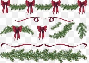 Christmas Decorations - Christmas Tree Garland Wreath Clip Art PNG