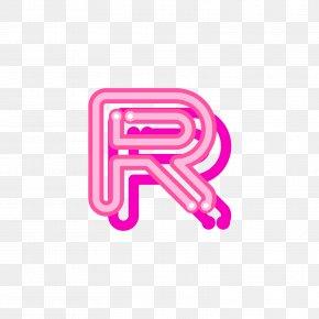 Red Uppercase Fluorescent Letter R - Letter Red Logo Font PNG