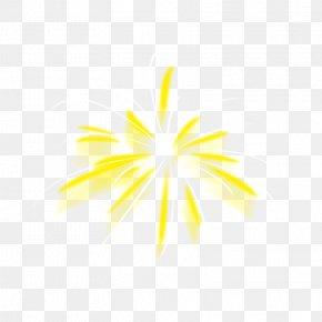 Golden Fireworks - Adobe Fireworks PNG