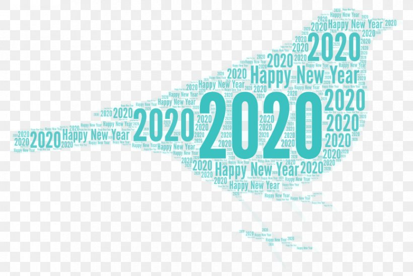 Happy New Year 2020 Text, PNG, 864x578px, Happy New Year 2020, Aqua, Blue, Brand, Computer Download Free
