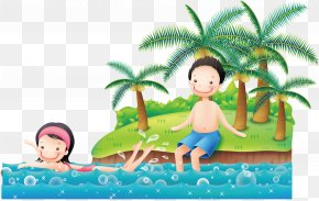 Vacation Beach Vector - Sandy Beach Vacation PNG