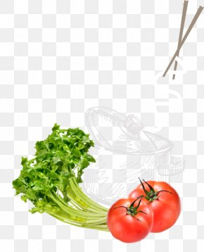Beef Noodles - Tomato Vegetarian Cuisine Food Leaf Vegetable Garnish PNG