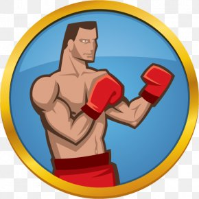 Boxing - Thumb Boxing Glove Clip Art PNG