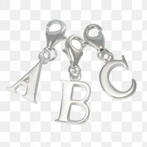 Silver - Earring Charm Bracelet Silver Charms & Pendants PNG