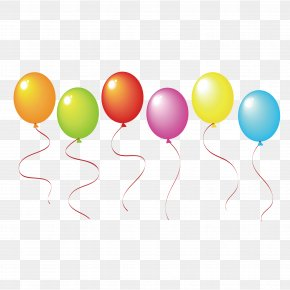 Color Vector Colorful Balloons - Balloon Party Greeting Card Clip Art PNG