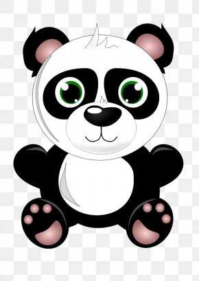 Panda Eating Cliparts - Giant Panda Bear Baby Grizzly Clip Art PNG
