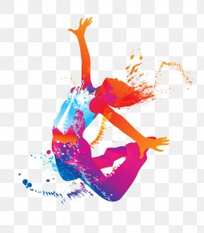 Jumping Woman - Hip-hop Dance Silhouette Dance Studio PNG