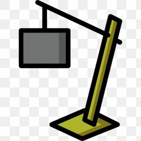 Desk Lamp Silhouettes - Computer Monitor Accessory Line Angle Clip Art PNG