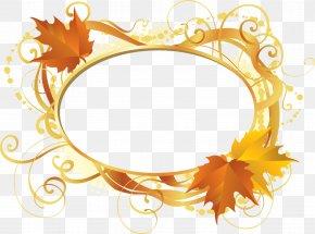 Leaf Frame - Gold Leaf Maple Leaf Graphic Arts PNG