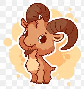 Vector Goat Material - Goat Alpine Ibex Cartoon Illustration PNG