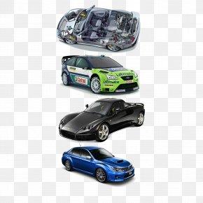 Sports Car A Row Of Cars - Sports Car Ferrari PNG