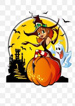 Halloween Halloween Witch Vector Material - The Halloween Tree Witch Clip Art PNG