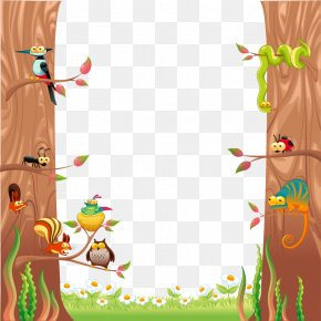 Flat Small Forest Animals - Illustration PNG