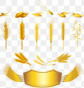 Decorative Wheat Bread Gold Label - Cereal Wheat Ear Royalty-free PNG