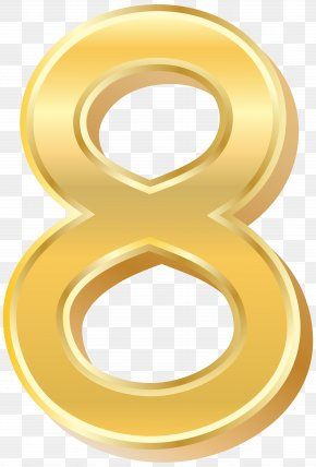 Gold Style Number Eight Clip Art Image - Sharon