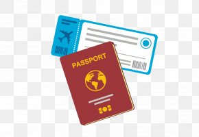 Creative Hand-painted Passport - Flight Airline Ticket Travel Clip Art PNG