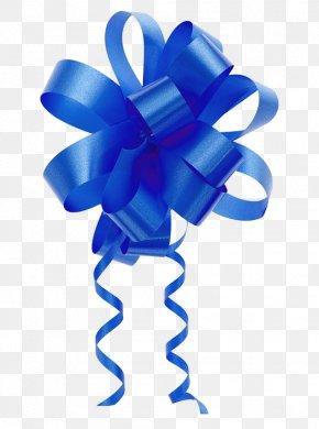Ribbon - Ribbon Blue Gift Christmas PNG