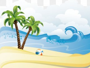 Summer Beach Poster Background Material - Summer Beach Clip Art PNG