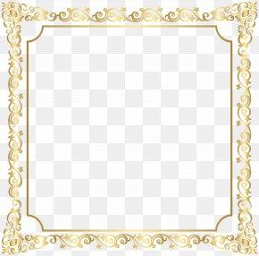 Border Deco Frame Clip Art Image - Picture Frame Clip Art PNG