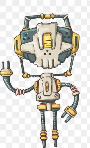 Vector Cool Robot - Robot Cartoon Illustration PNG