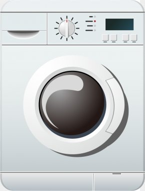 Vector Electric Washing Machine - Clothes Dryer Washing Machine Laundry PNG