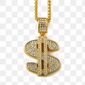 Gold Dollar Photos - Necklace Jewellery Chain Jewellery Chain Pendant PNG