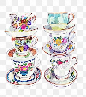 Tea - Teacup Watercolor Painting Drawing PNG