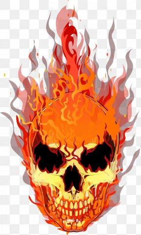Vector Skull - Skull T-shirt Fire Flame PNG